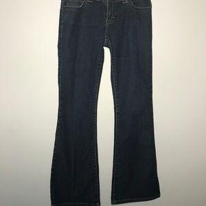 Calvin Klein Dark Wash Flare Jeans Size 8